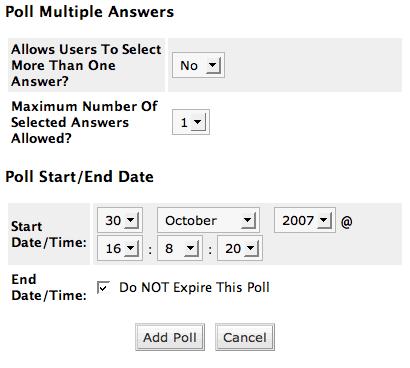 Add Poll 2