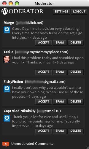 Moderator for WordPress