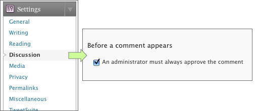 WordPress Comment Moderation