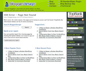 404 Error Page Mockup