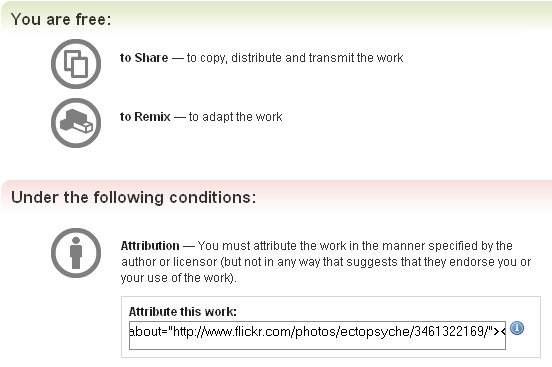 creative commons attribution