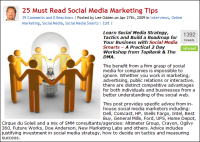 25 social media marketing tips