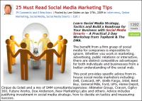 25 social media marketing tips