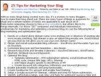 25- tips blog marketing