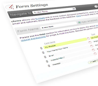 Forms with cforms