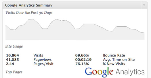 Google Analytics via Google Analyticator