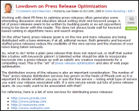 press release optimization