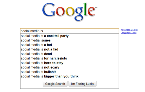 What Google Thinks of Social Media