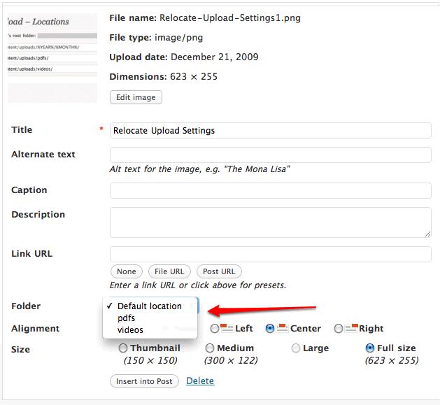 Relocate Upload Integration