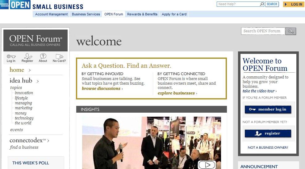 AMEX OPEN Forum B2B social media