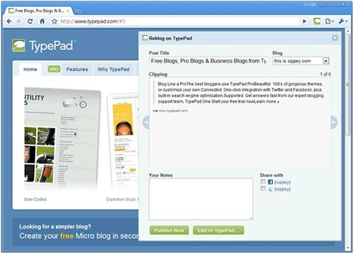 TypePad Blog It