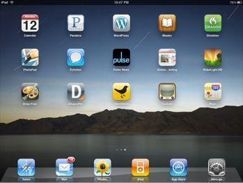 iPad blogging