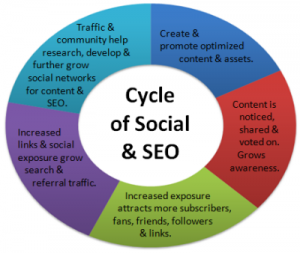 Cycle of Social Media & SEO