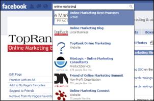 Facebook Search Result