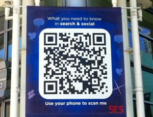 QR Code Side of Building