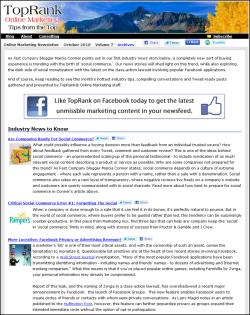 online marketing newsletter
