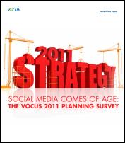 Vocus 2011 Planning Survey Social Media