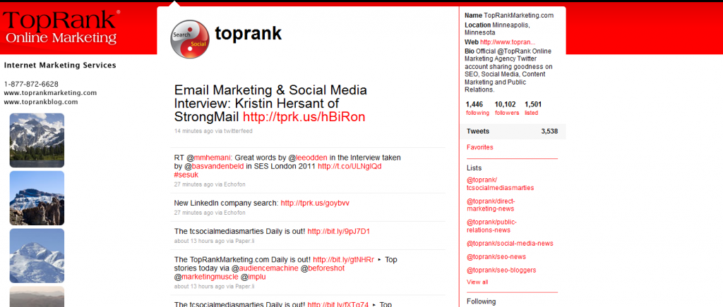 Online resource, TopRank Online, Twitter marketing