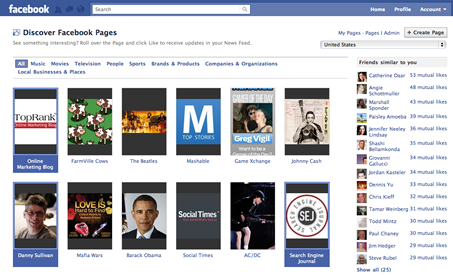 Discover Facebook Pages