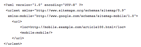 mobile sitemap