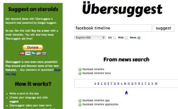 Ubersuggest News Keyword Research