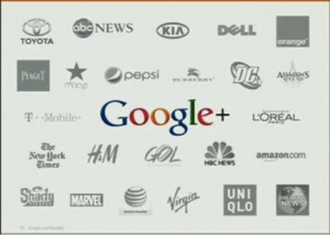 Google+ Pages Big Brands
