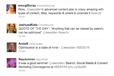 SES Chicago 2011 Tweets for @TopRank