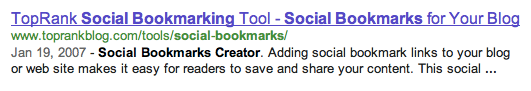 Social Bookmarks Creator