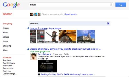 Google Plus SOPA