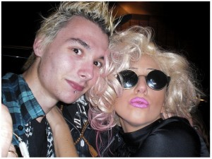 Lady Gaga with one of her Little Monsters