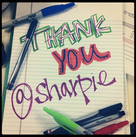 A fan thanks @sharpie