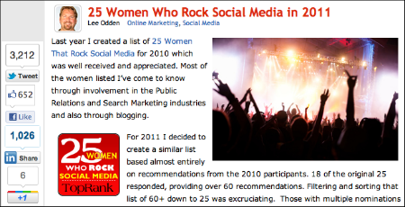 Women Who Rock Social Media