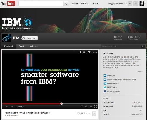 IBM YouTube Channel