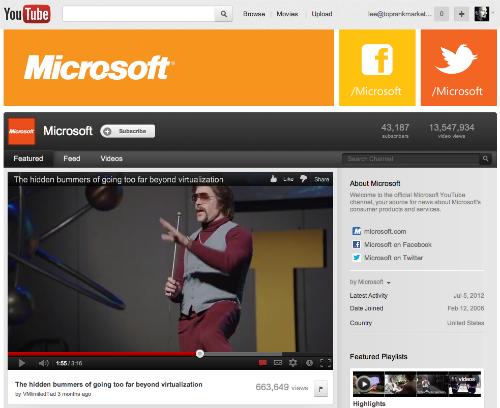 Microsoft YouTube Channel