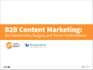 B2B Content Marketing Report 2013