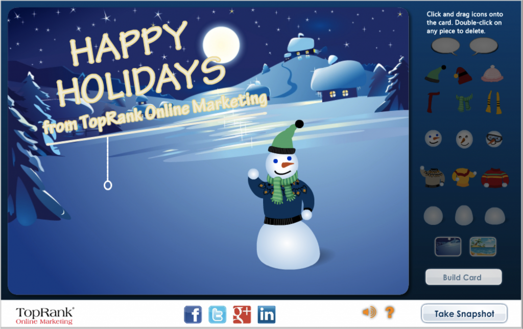 TopRank Online Marketing Holiday Card 2012
