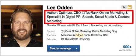 Lee Odden LinkedIn Headline