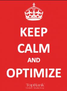 Keep calm and optimize