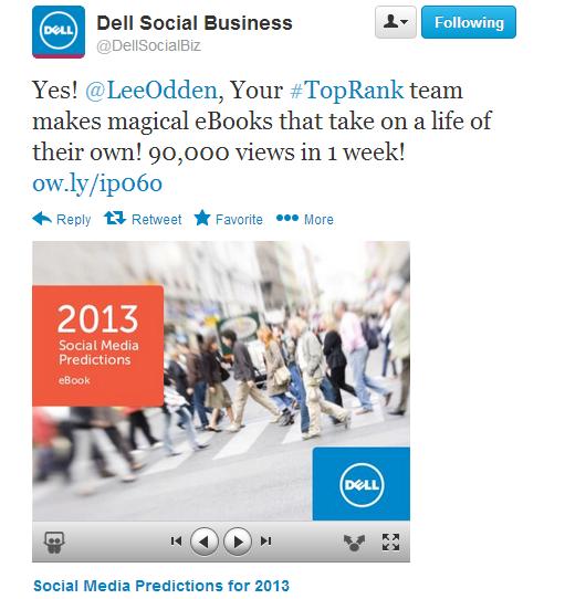 Dell Social Business Magic Ebook Tweet