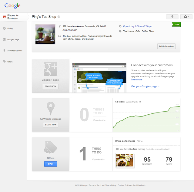 Google Places for Business updates