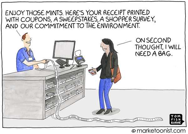 Marketoonist Cartoon: marketing at the point of sale