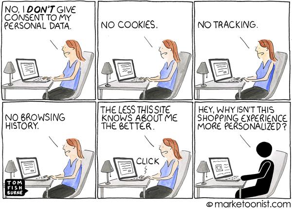 Marketoonist Personalization Gap Cartoon