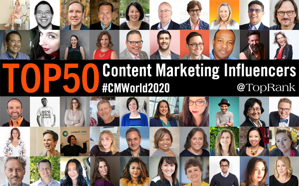 2020 CMWorld 50 Content Marketing Influencers
