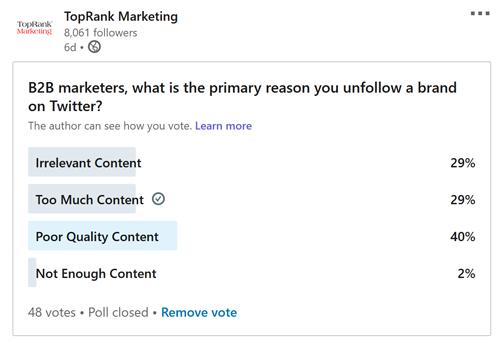 LinkedIn Poll