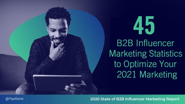 B2B influencer marketing statistics