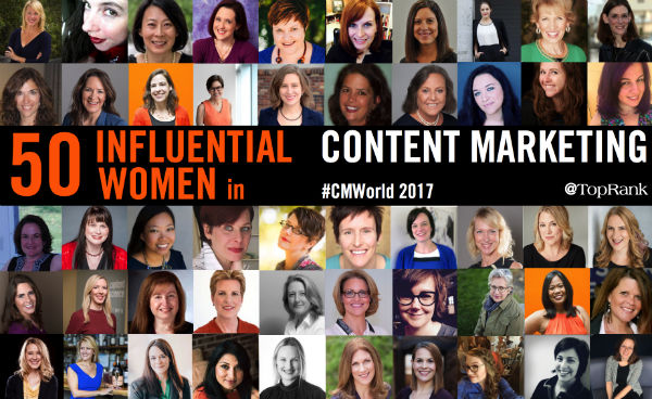 50 Women Who Are Top Content Marketing Influencers & Speakers 2017