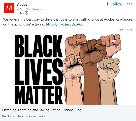 Adobe LinkedIn Screenshot Image