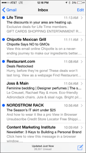 email marketing from