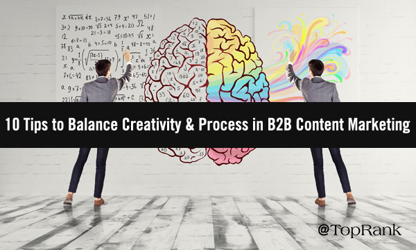 Two marketers aside illustration of brain showing creative and intellectual sides image.