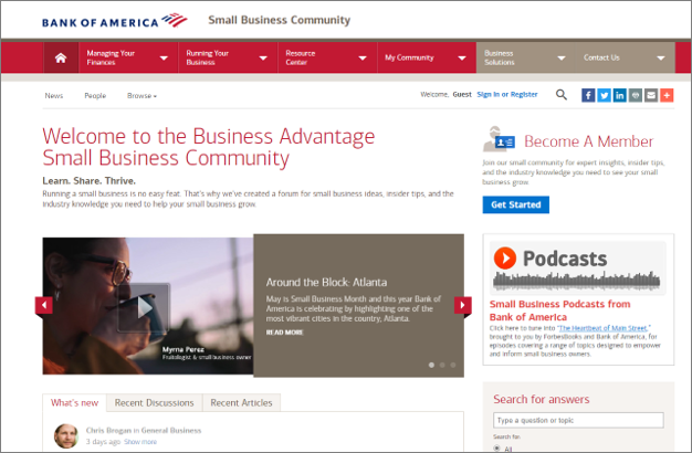 Bank of America Online Community